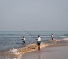 Fishermen a Anjuna Beach ,Goa ,India