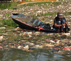Contaminated River Water in Indonesia