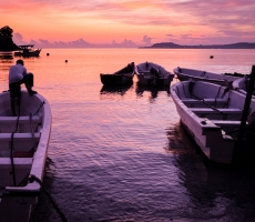 Early morning shot of the snorkeling boats at Sabang Island, Indonesia