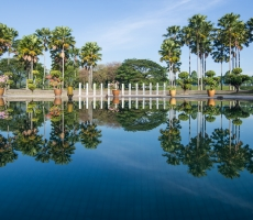Reflective pool in Kuala Lumpur City Park