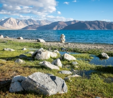 Beautiful Pangong lake ladakh,India