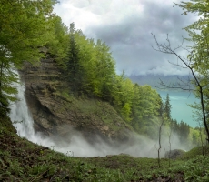 Giessbach waterfall, Switzerland, May 2013
