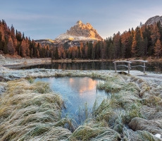 CVS One autumn morning in the Dolomites