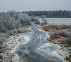 Frozen River in central Russia has a nice texture.
