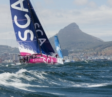 Photograph taken during Volvo Ocean Race near Cape Town.